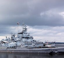 USS Massachusetts and the USS Lionfish by Steven Squizzero