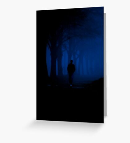 Alone in the dark Greeting Card