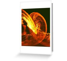 FIRE SERPENT  Greeting Card