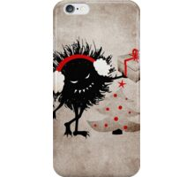 Evil Character Gives Christmas Present iPhone Case/Skin