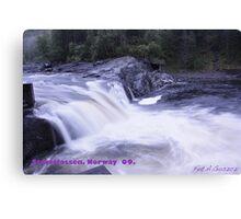 Waterfall . Trondelag . Norway . by Brown Sugar with WOOOOOws !!! thanks !!!  View (248) favorited by (1) thx ! OK! Canvas Print