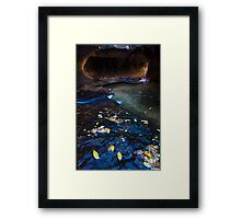 Flowing Time, The Subway, Zion National Park Framed Print