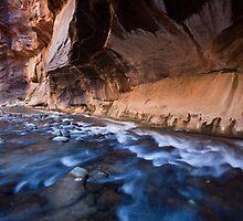Down the Virgin River, Zion National Park, Utah by Alan C Williams