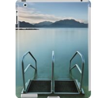 Annecy lake, morning at the beach iPad Case/Skin