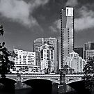 Melbourne Across The Yarra by Joanna Beilby