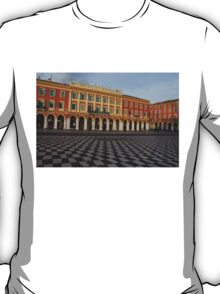 Nice, France, French Riviera - the Cheerful Colors of Place Massena  T-Shirt