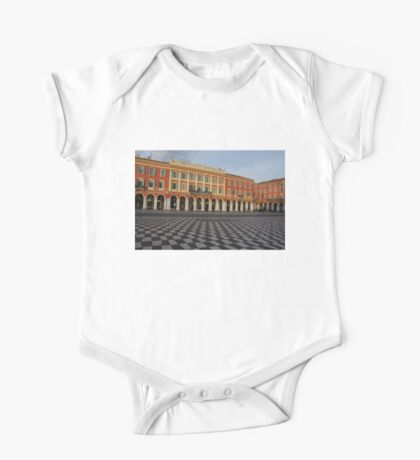 Nice, France, French Riviera - the Cheerful Colors of Place Massena  One Piece - Short Sleeve