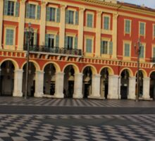 Nice, France, French Riviera - the Cheerful Colors of Place Massena  Sticker