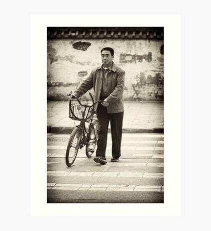 A Crossroads and A Bike- Modern China Art Print