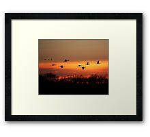 At Sundown Framed Print