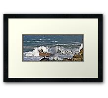 """"""" The result of force 10 gales"""" Framed Print"""