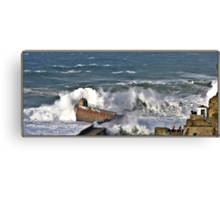 """"""" The result of force 10 gales"""" Canvas Print"""