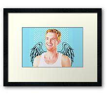 Eddie Thawne- Angel Design Framed Print