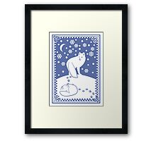 Arctic Foxes Framed Print