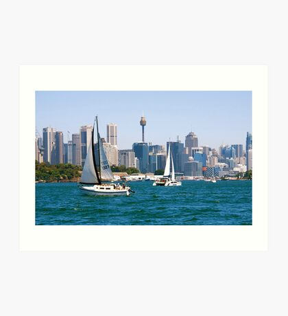 Sydney Harbor Sails Art Print