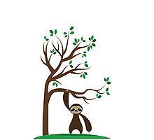 Happy Sloth Photographic Print