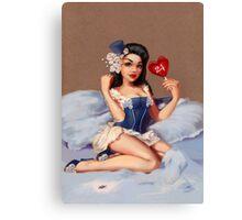 Girl 24 | (Your best Gil Elvgren) Pinup Canvas Print