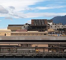 Dirty Industry Clean Sky Hobart Tasmania by Jane McDougall