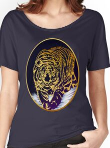 Framed Golden Snow Tiger Women's Relaxed Fit T-Shirt