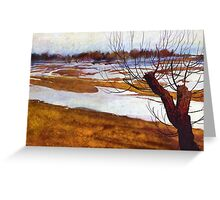 Winter farmlands Greeting Card