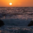 Sunrise through the Dust - Maroubra NSW by Malcolm Katon
