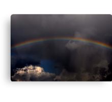 Sometimes a Rainbow Follows the Storm Canvas Print