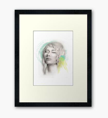 Tranquil Girl  Framed Print