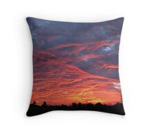 Orange sherbert skies Throw Pillow