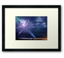 Crystal Skies Framed Print