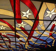 "The glass ceiling in the ""NCL Pride of America"" Cruise Ship Lobby representing the American Flag.... by DonnaMoore"