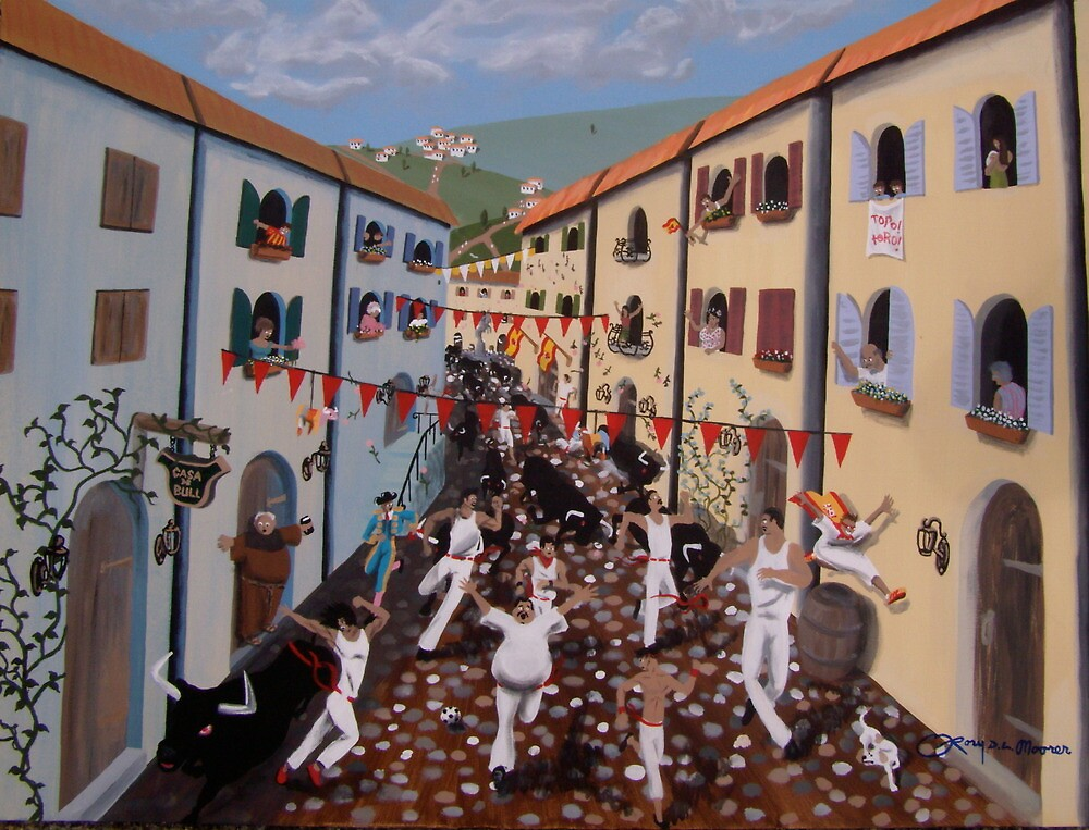 Bulls on the Boulavard by Rory  Moorer
