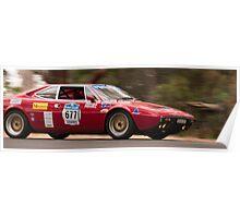 Ferrari 308 GT4 Dino, Classic Adelaide Car Rally 2009 Poster