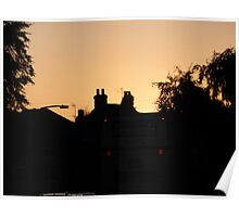 Haxby Rooftops- Red sky at night photographers delight Poster