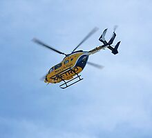 Life Flight Helicopter by Karl R. Martin