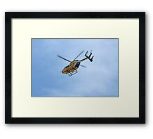 Life Flight Helicopter Framed Print