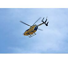 Life Flight Helicopter Photographic Print