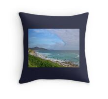Land - sea - sky Throw Pillow
