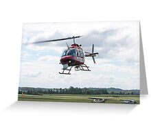Action News Helicopter Greeting Card