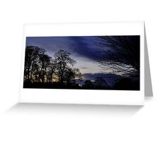 Autumn Evening View. Greeting Card