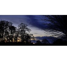 Autumn Evening View. Photographic Print