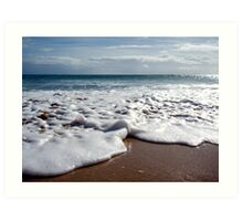 A wave from the deep blue. Art Print