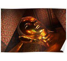 Reclining Buddha 1, Bangkok, Thailand Poster