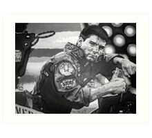 Top Gun iconic piece with Tom Cruise by artist Debbie Boyle - db artstudio Art Print