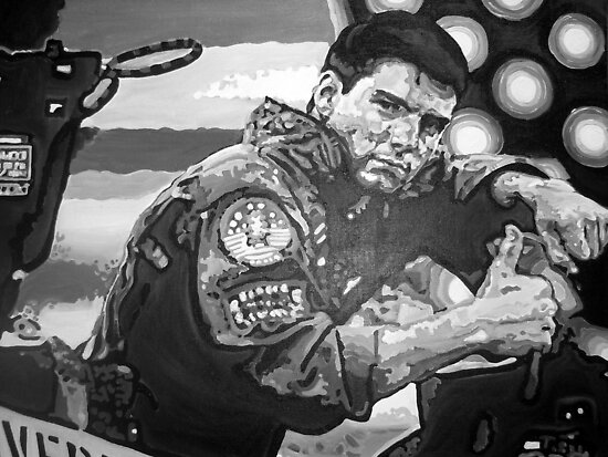 Top Gun iconic piece with Tom Cruise by artist Debbie Boyle - db artstudio by Deborah Boyle