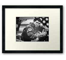 Top Gun iconic piece with Tom Cruise by artist Debbie Boyle - db artstudio Framed Print