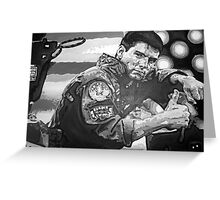 Top Gun iconic piece with Tom Cruise by artist Debbie Boyle - db artstudio Greeting Card