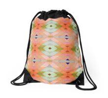 Decorative Textural Orange Pattern Drawstring Bag