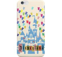 Vintage Disneyland Castle and Balloons iPhone Case/Skin