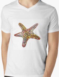 Creative watercolor starfish Mens V-Neck T-Shirt