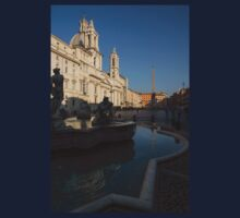 Roman Morning - Shadow and Light on Piazza Navona, Rome, Italy Kids Clothes
